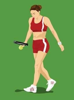 vector deporte tenis