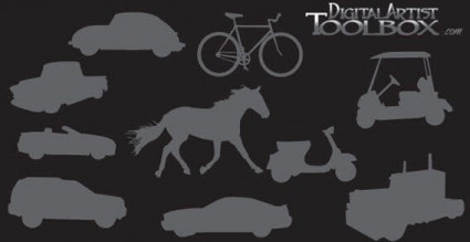 vecteur libre de silhouettes transports