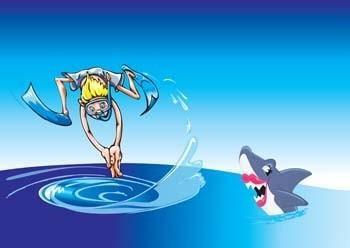 água pulando