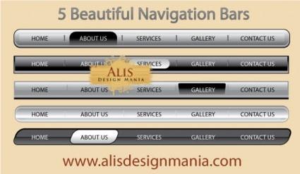 5 web indah navigasi Bar