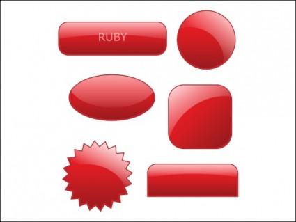 koleksi gaya tombol glossy web