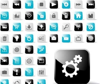 glossy set untuk aplikasi web ikon