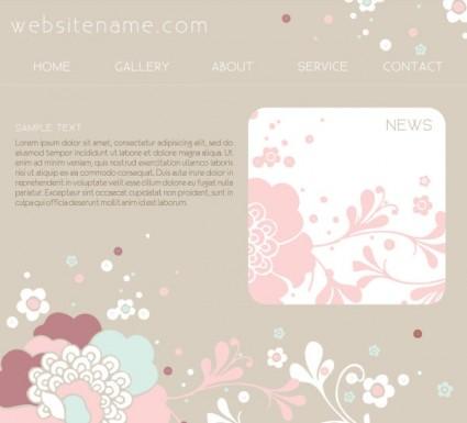vektor template desain situs Pink