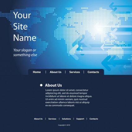 rasa teknologi website template vektor