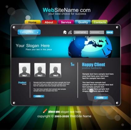 tren vektor template website dinamis