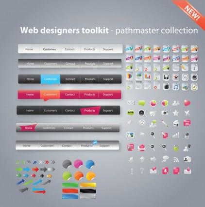 desain web yang berguna alat paket vektor
