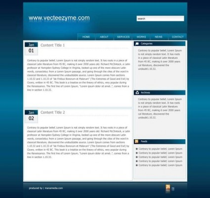 web2 website template