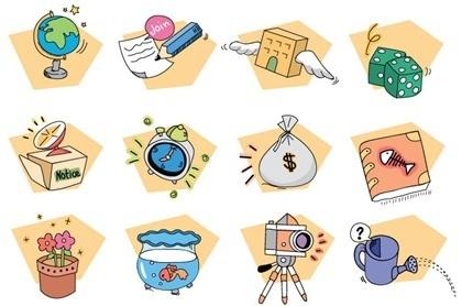 12 бесплатно векторные иконки стиля