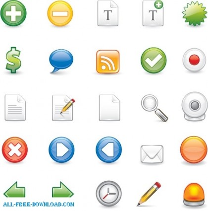 25 iconos de formato illustrator escalable