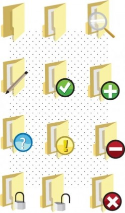 icônes de fichier dossier vectoriel adobe illustrator ai