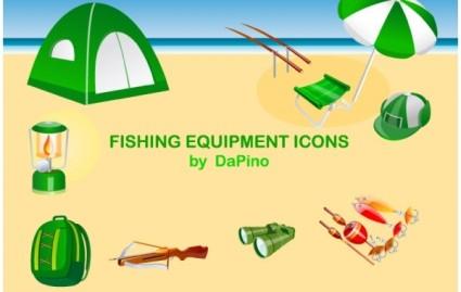 iconos de equipos de pesca
