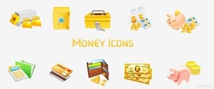 iconos vectoriales gratis dinero