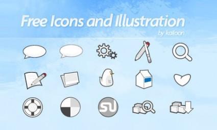 vectores de iconos sociales