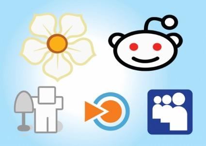 Social-Media Icons set