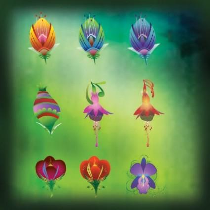 Векторные цветочные иконки