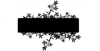 Banner con el vector de flor