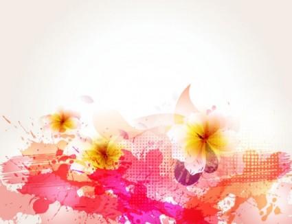 vector de fondo de flores
