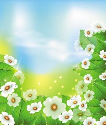 vector de flores hermosas