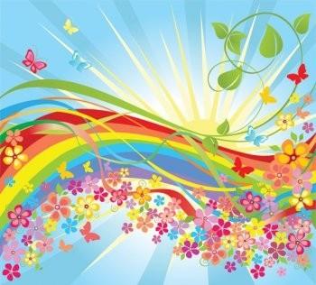 flores de colores en el mundo