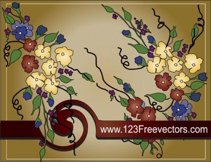vector de marco de texto de flor
