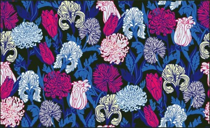 ráfaga de vector de flores de colores