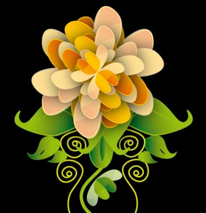 vector de flor lisa