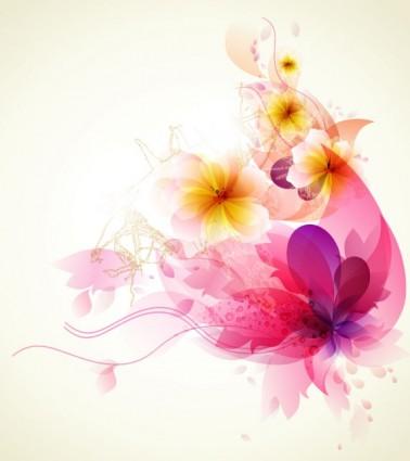 vector de fondo de flores romántico
