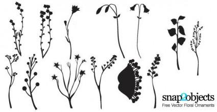 adornos florales de vectores