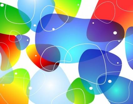 latar belakang vektor abstrak mengkilap warna-warni