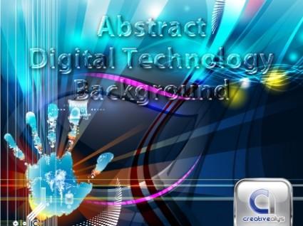 teknologi digital abstrak latar belakang vektor