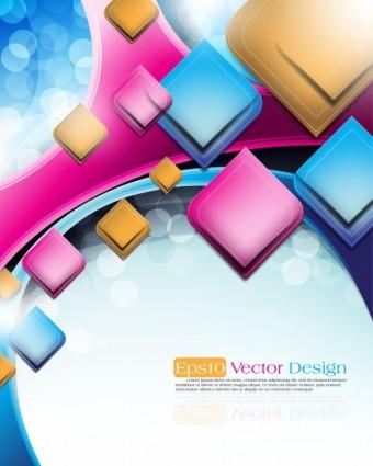 Vektor Abstrak latar belakang obyek vektor