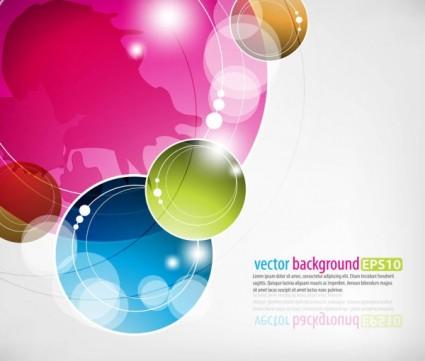 dinamis berwarna-warni abstrak elemen vektor