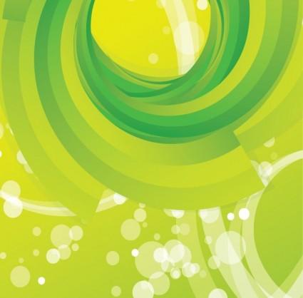 Бесплатные Векторные Абстрактный зеленый вихрем фон