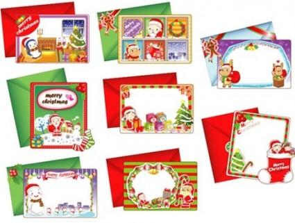 8 tarjetas de vectores de Navidad hermosa
