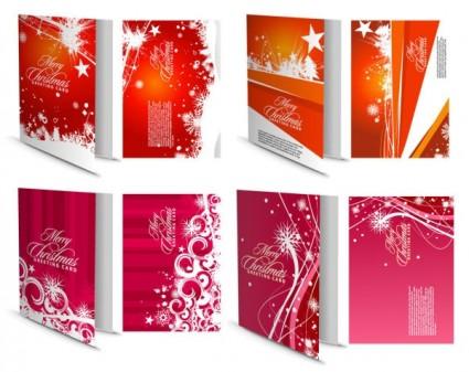 красивые рождественские открытки вектор