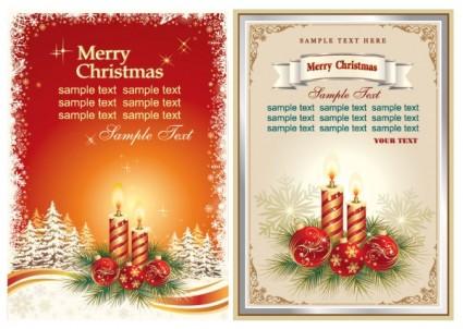 hermosas tarjetas de Navidad vector