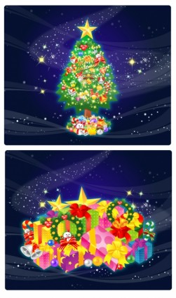 красивый Рождественский подарок вектор
