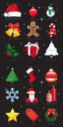 सुंदर क्रिसमस के गहने वेक्टर