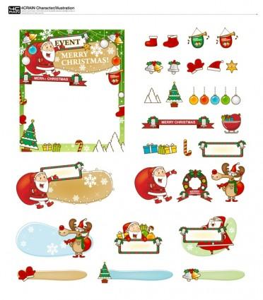 vector de regalos de Navidad y marcapáginas