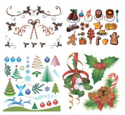 Natal, um grupo de vetor de elementos do vetor