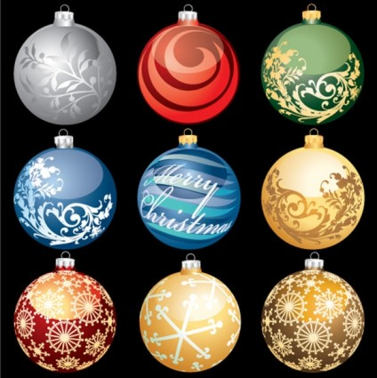 vector de bola de Navidad