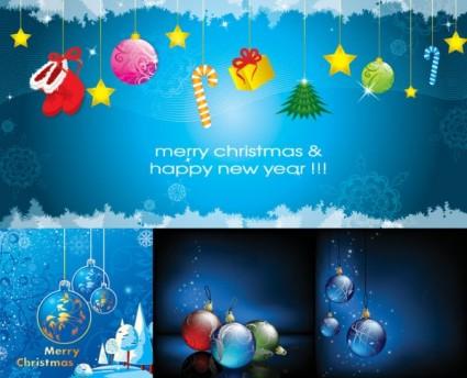 elementos hermosos de Navidad vector