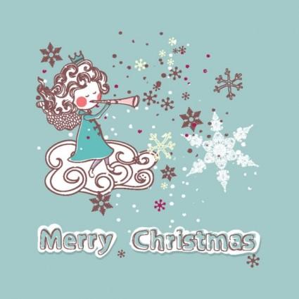 etiquetas engomadas de la decoración de Navidad vector