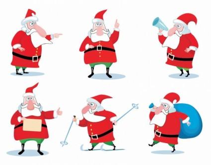 क्रिसमस सांता क्लॉस वेक्टर सेट