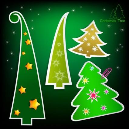 etiquetas árbol de Navidad vector
