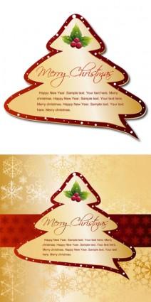 क्रिसमस ट्री टैग वेक्टर