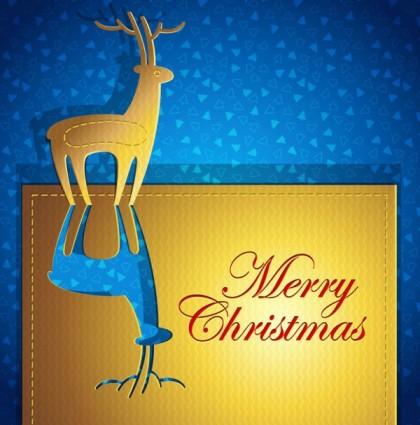 創造的なクリスマス カード ベクトル