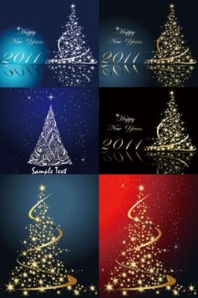 vector árbol de Navidad luminoso de sueño