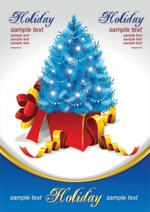 vector árbol de Navidad de regalo