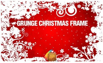 marco de Navidad de Grunge